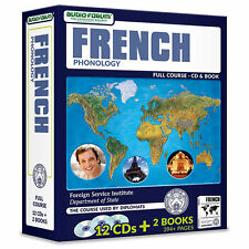 FSI: French Phonology (12CDS/Books) by Foreign Service Institute *NEW IN BOX*