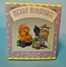 Hallmark 2 Piece Set Easter Merry Miniatures Easter Parade 1997 Chick Bunny Used