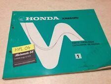 Honda XR250R E XR250 R XR 250 parts list liste catalogue pièce détachée