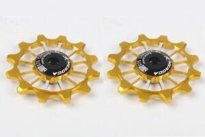 2pcs Bike Pulleys Narrow Wide Jockey Wheels Ceramic Bearing rear Derailleur 12T