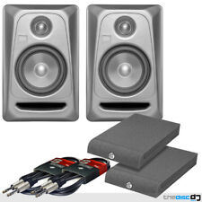 PAIR KRK Rokit RP5 G3 Platinum Active Powered Studio DJ Monitors Pads & Cables