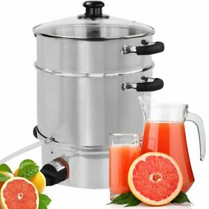 Syntrox Mobile Steam Juicer Fruit Press Stainless Steel With Heizelemen