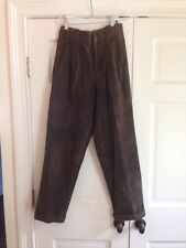 Vintage Ralph Lauren Polo Country Suede Leather Pants Jeans Brown Sz 10