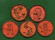 GIRL SCOUT SET OF 5 BROWNIE PRE TRY-ITS - PACIFIC PEAKS COUNCIL - FREE SHIPPING