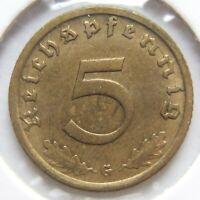 Top! 5 Reich Pfennig 1937 G En Very fine