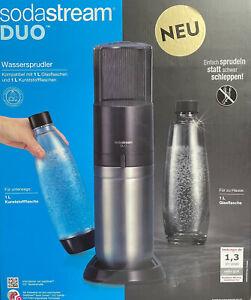 Sodastream Duo Titan Trinkwassersprudler Glas + Kunststoffflasche Neu & OVP