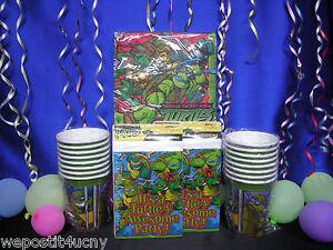 Teenage Mutant Ninja Turtles Party Set # 5 TMNT Vintage Cups Napkins Invites