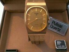 Vintage Pulsar quartz gold finish watch retro