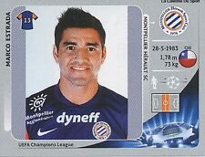 N°146 ESTRADA # CHILE MONTPELLIER.SC HSC CHAMPIONS LEAGUE 2013 STICKER PANINI