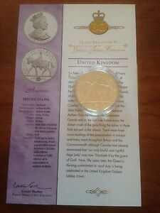 2002 Silver Proof 1oz £5 Five Pound Coin. Queens Jubilee -  Accession