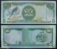 TRINIDAD /& TOBAGO $5 Dollars 2006 P47c Sign Hilaire UNC Banknote