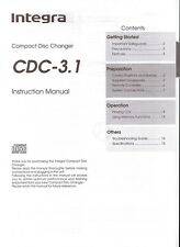 Integra CDC-3.1 CD Player Owner's Manual with registration cards