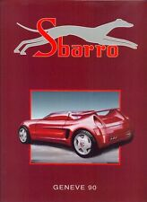 SBARRO Geneva 1990 full range sales brochure