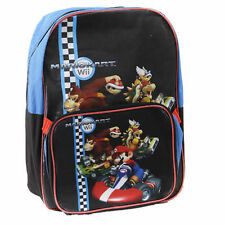 "Backpack 16"" + Detachable Lunch Bag MARIOKART Nintendo Wii NWT"