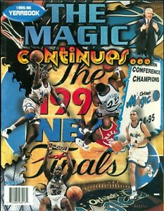 1995-96 Orlando Magic Official Team Yearbook Shaquille O'Neal, Penny Hardaway