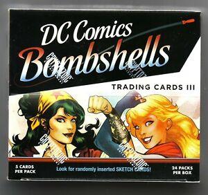 DC COMICS BOMBSHELLS SERIES 3 SEALED BOX OF TRADING CARDS