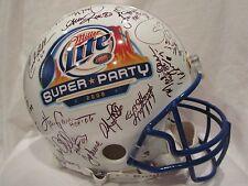 NFL HOFs & Stars Autographed Miller Lite Full Size Helmet 41 Signatures–Full JSA