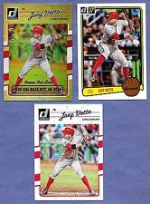 2017 Donruss Joey Votto Reds Set of 3 cards in Near Mint Condition