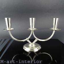 alter Kerzenhalter Kandelaber Design BERG Silverplate Candle Holder Denmark 60er