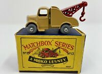Matchbox No. 13 Bedford Wreck Truck in Original B1 Box