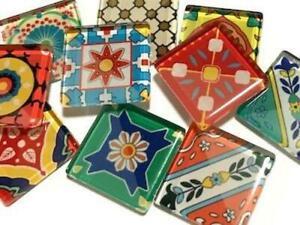 Spanish Inspired Glass Tiles 2.5cm Mix 3 - Mosaic Art Craft Supplies