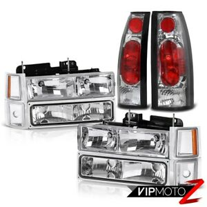 1995 1996 1997 1998 1999 Chevy Tahoe Crystal Clear Headlight Tail Lights Lamps