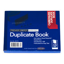 6 x Carbonless 100 Page Duplicate Books Invoice Receipt Lined A6 Numbered Pads