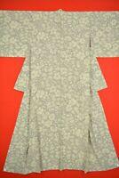 Vintage Japanese Silk Antique BORO KIMONO Kusakizome Dyde Textile/TV57/930