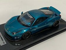 1/18 Ferrari 458 Liberty Walk LB Performance in Artemis Green Carbon BBR or MR