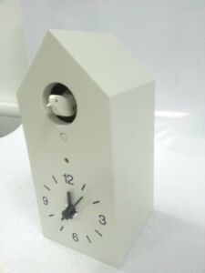 MUJI Mechanical Cuckoo Wall or Table Clock White W/ Light Sensor New Japan Make