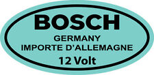 Vintage Blue Bosch 12 Volt Coil DECAL STICKER VOLVO VOLKSWAGEN BEETLE TYPE 1
