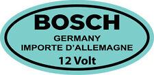 Vintage Blue Bosch 12 Volt Coil DECAL STICKER VOLVO VOLKSWAGEN BEETLE TYPE 1
