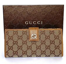 31bb45a42efa Gucci Canvas Checkbook Wallets for Women for sale | eBay