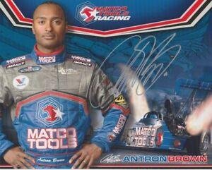 2008 Antron Brown signed Matco Tools Top Fuel NHRA postcard