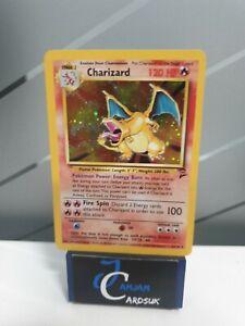 CHARIZARD 4/130 holo Base Set 2 Pokemon Card DENTED