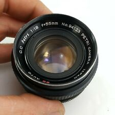 Petri C.C Auto 1:1.8 55mm Lens *As Is* issues