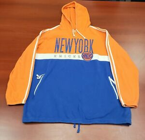 Vintage Adidas Trefoil New York Knicks Pullover Hoodie Sweatshirt Embroidered...