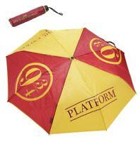 "Harry Potter Umbrella Hogwarts Train Platform 9 3/4 Compact Fold-Up 35"" Wristlet"