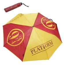 "Harry Potter Hogwarts Train Platform 9 3/4 Compact Fold-Up 35"" Umbrella Wristlet"