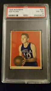1948 Bowman Joe Fulks #34 PSA 4