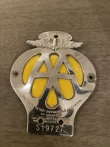 Automobile Association Rare Singapore Badge, Great Shape.