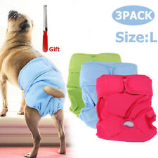 3x Dog Puppy Pet Diapers Belly Bands For Large Female Dogs Pant Size L Reuseable