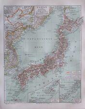 1897 Japan und Korea - alte Landkarte Karte old map Lithografie