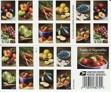 FRUITS & VEGETABLES STAMP BOOKLET -- USA #5484-#5493 (5493b) FOREVER 2020