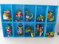 LOT DE 10 FIGURINES KINDER CRAZY CROCODILES