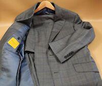 #56 Hickey Freeman Custom  Super 150's Loro Piana Suit Size 40 Short