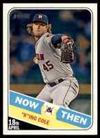 2018 TOPPS HERITAGE NOW & THEN HIGH NUMBER GERRIT COLE HOUSTON ASTROS #NT-4