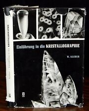 Kristallographie 1961 GERMAN Dr Will Kleber Crystallography Science Physics