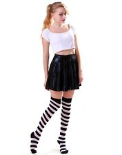 Women's Striped Thigh High Sexy Over The Knee Stockings Extra Long Opaque Socks