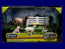 Breyer Stablemates FARM YARD FRIEND 2013 Cow Pig Sheep Goat Chicken Gate Toy NIB